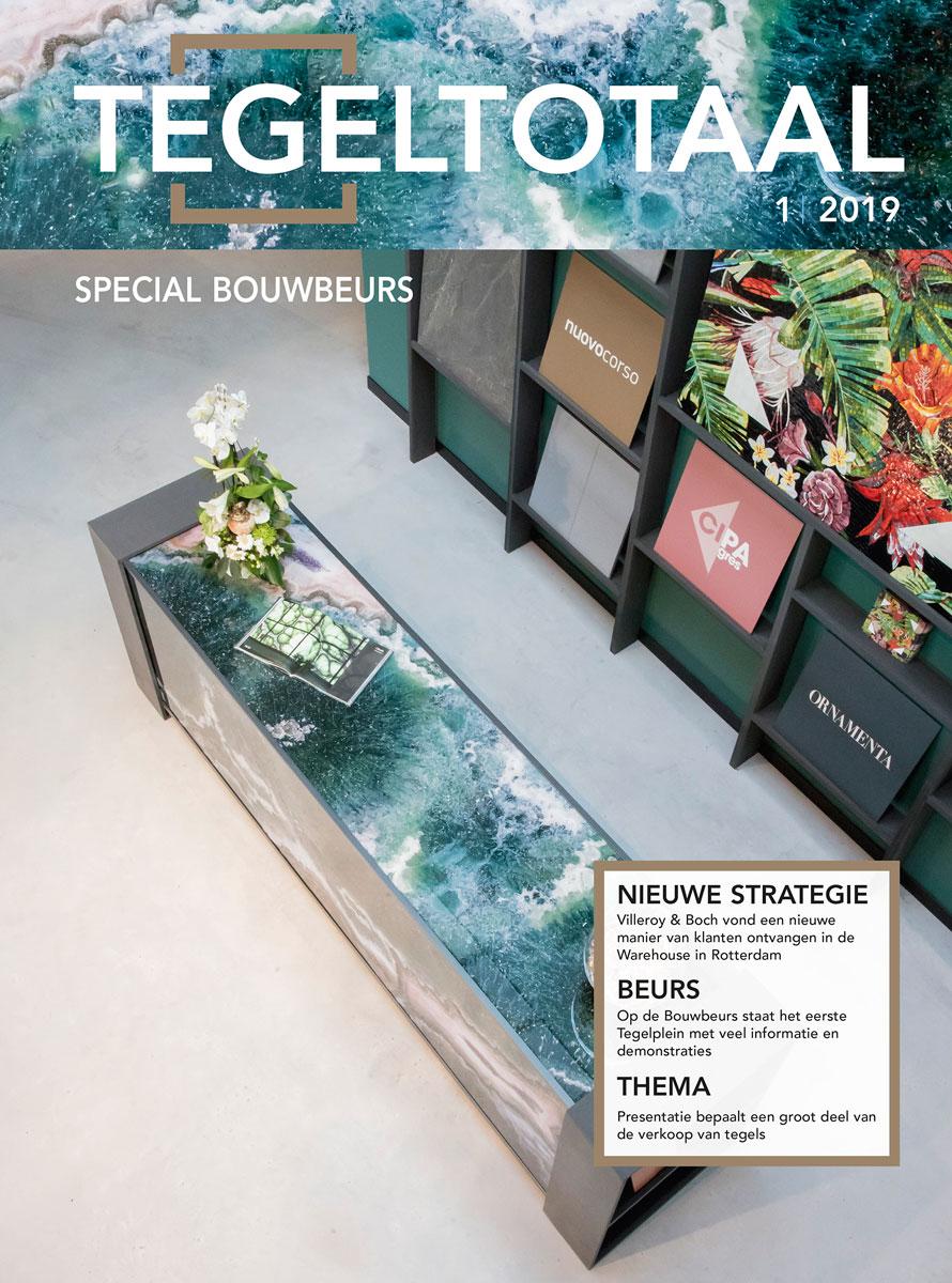 Vakblad Tegeltotaal over de nieuwe showroom van Spadon